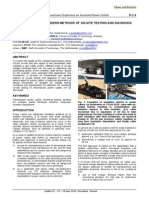 Implementation of Modern Methods of on-Site Testing and Diagnosis