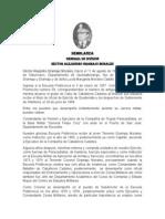 General de División DEM Héctor A. Gramajo M.