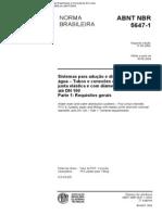 NBR 5647-1 (Maio 2004) - Sistemas para adução e distribuição de água – Tubos e conexões de PVC 6,3 com junta elástica e com diâmetros nominais