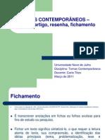 Resumo,+Artigo,+Resenha,+fichamento (1).ppt