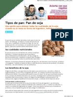 Tipos de Pan_ Pan de Soja Consumer Ekosi