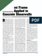 Equiv Frame to Conc Shearwalls