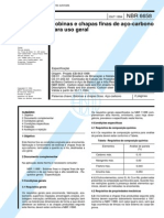 NBR 6658 (Out 1994) - Bobinas e chapas finas de aço-carbono para uso geral