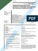 NBR 6948 (Fev 1996) - Gaxeta de borracha para freios hidráulicos - Verificação de precipitação após imersão em líquido para freio