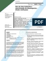 NBR 7322 (Set 1995) - Filtro do óleo hidráulico - Determinação do desempenho - Método multi-pass