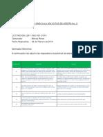 Aclaraciones a La SDO Proyectos Solares Guatemala 2