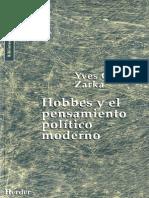ZARKA Hobbes y El Pensamiento Politico Moderno