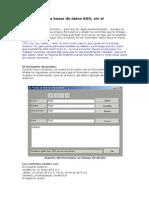 Cómo acceder a bases de datos ADO