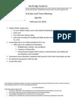 k-8 agenda february 14 2014