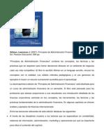 Resena Principios Administracion Financiera Lawrence Gitman