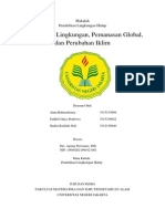 Makalah PLH - Pencemaran Lingkungan, Pemanasan Global, Dan Perubahan Iklim