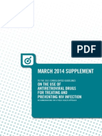 WHO ARV for Treatment and Prevention Supplement to 2013 Consolidated Guidelines - March 2014