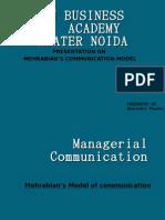 mehrabian model of communication