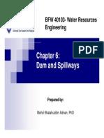 Chapter 6 Dam and Spillwaysdam