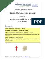 02 - La Cultura de La Muerte vs. La Cultura de La Vida