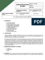PLAN DE ÁREA 2014 CIENCIAS NATRUALES