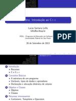 INTRODUÇÃO AO C++ - Programa de Educação em Softare Livre