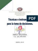 Informe Tecnicas Para La Toma de Decisiones