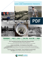 Clean Rivers, Clean Lake Evening Event Poster -- Lake Michigan Fisheries