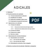 Operaciones Con Radicales 2012