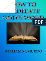 How to Meditate God's Word
