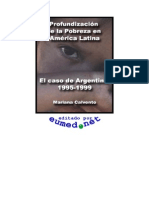 Profundización de la pobreza en America Latina Caso Argentina