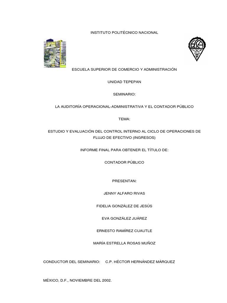 131_1_estudio y Evaluacion Del Control Interno Al Ciclo de ...