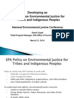 Developing an EPA Policy on Environmental Justice for  Tribes and Indigenous Peoples by Daniel Gogal