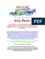 Arty Party Flyer