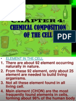 Bio f4 Chap 4 Chemical Composition of the Cell