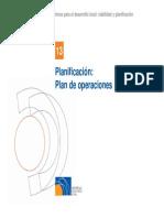 13. Plan Operaciones