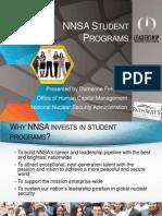 NNSA Student Programs by Dameone Ferguson