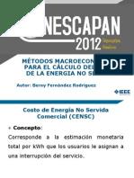3. MÉTODOS MACROECONÓMICOS PARA EL CÁLCULO  DEL COSTO DE LA ENERGÍA NO SERVIDA