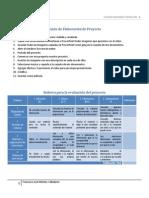 Guion y Rubrica evaluación proyecto Valladares