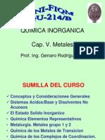 CAP V Metales  Grupo 1 y 2 Post Transición