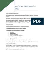 NORMALIZACIÓN Y CERTIFICACIÓN DE LA CALIDAD