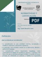 Normatividad y certificación