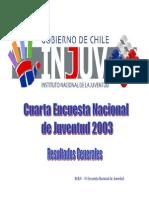 Cuarta Encuesta Nacional de Juventud 2003. Resultados Generales INJUV