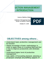 Production Management - Introduction_1