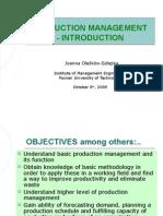 Production Management - Introduction_1