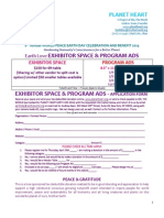 2014 earth love exhibitor space  program ads