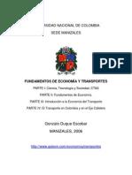 Fundamentos de economía y transportes