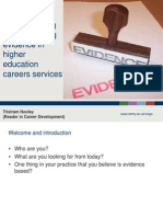 Understanding and enhancing evidence in higher education careers services