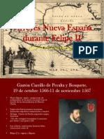 Virreyes Nueva España durante Felipe II
