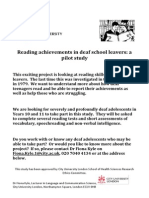 Reading in Deaf School Leavers Flyer Kyle2014