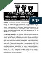 Leaflet Fee hike in PU