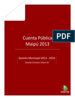 Cuenta Publica 2013 Al COSOC