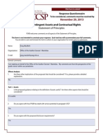 2013-11 Assets, Contingent Assets, Contractual Rights RESPONSES