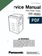 Panasonic FP1680-2080 Service Manual
