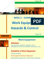 IGC2 Elem 3 (Work Equipment Hazards and Controls)